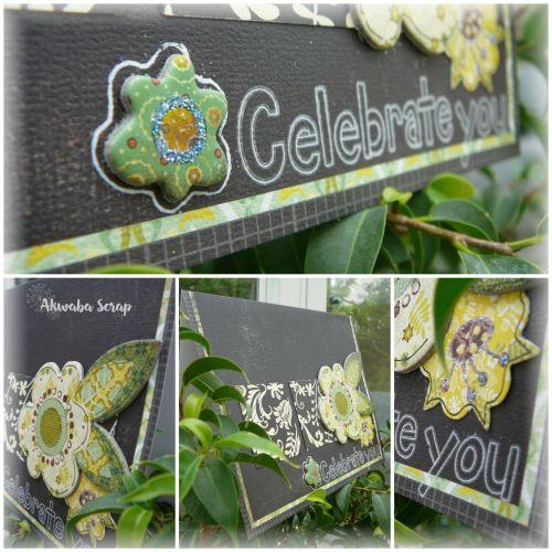 Collage Carte Celebrate you