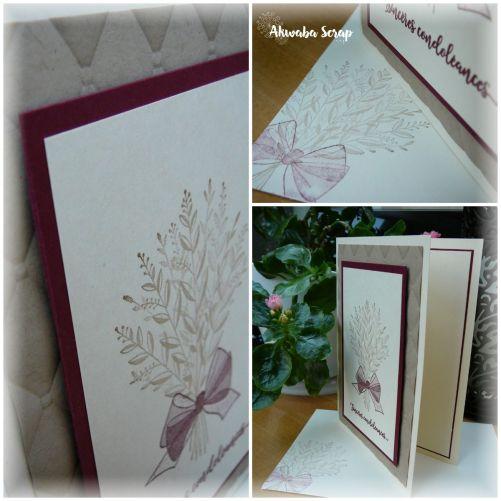 Collage carte condoléances lily